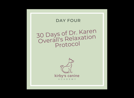 Day 4 - 30 Days of Dr. Karen Overall's Relaxation Protocol