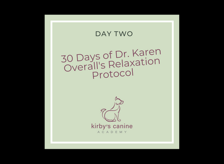 Day 2 - 30 Days of Dr. Karen Overall's Relaxation Protocol