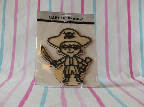 Foam Clay Wooden Pirate