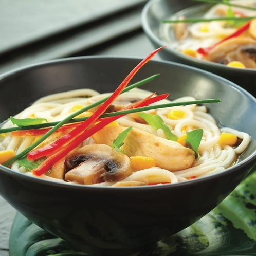 noodle soep kip curry