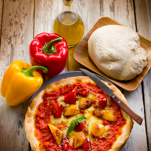 pizza met saus