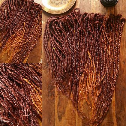 Set Phoenix - 55 Dreads doubles effet naturel roux