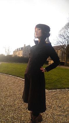 Manteau Elisabetha Noir profond