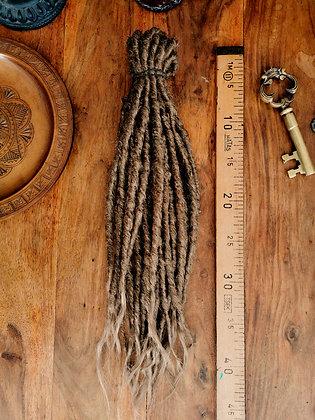 Dreads doubles - Mi-longues et moyennes- Roux naturel