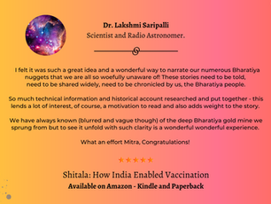 #ShitalaReview - Dr Lakshmi Saripalli - Scientist and Radio Astronomer.