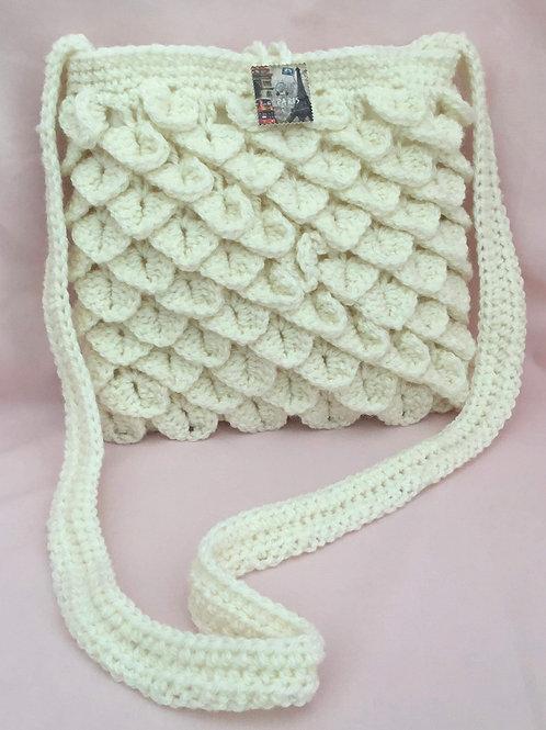 """Paris"" Dragon Scale Handbag - Cream"