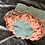 Thumbnail: Dragon Scale Slouch Hat - duck egg/terracotta/apricot