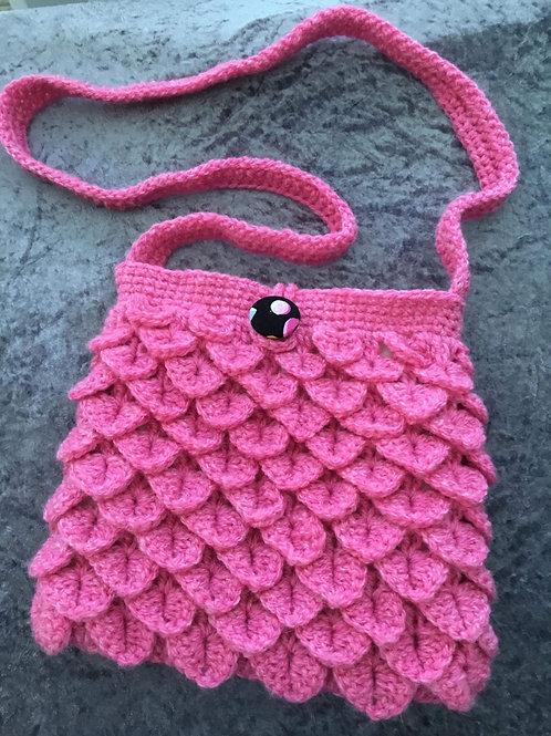 """""""Paris"""" Dragon Scale Handbag - pink"""