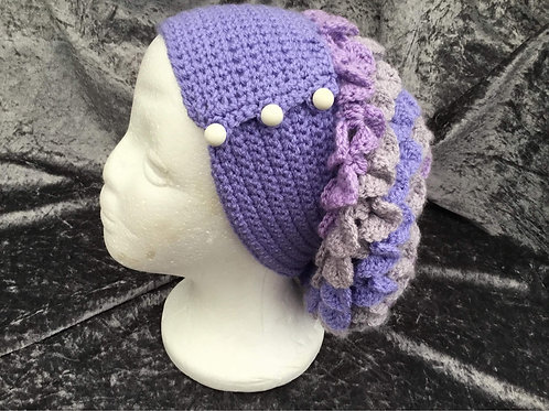 Dragon Scale Slouch Hat - lilac
