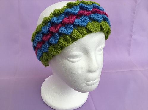 Dragon Scale Headband - Green/Blue/Pink
