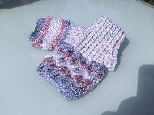 Dragon Scale Gloves - Flat Palm - pink/blue/grey
