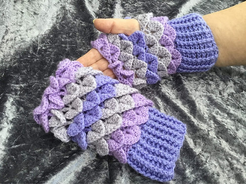 Dragon Scale Gloves - Round Palm - Lilac