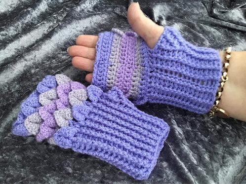 Dragon Scale Gloves - Flat Palm - lilac