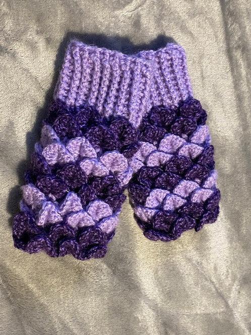 Dragon Scale Gloves - Round Palm -Purple
