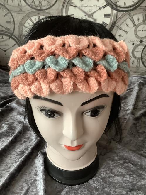 Dragon Scale Headband - duck egg/terracotta/apricot