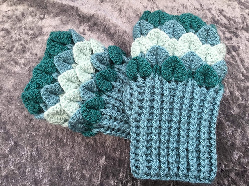 Dragon Scale Gloves - Flat Palm - Teal