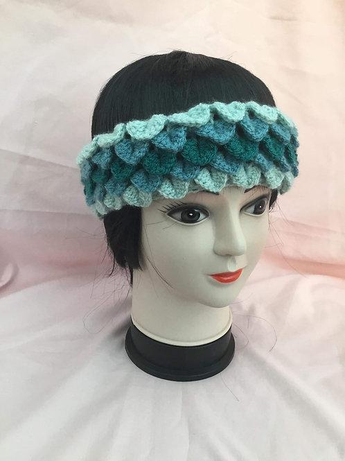 Dragon Scale Headband -teal