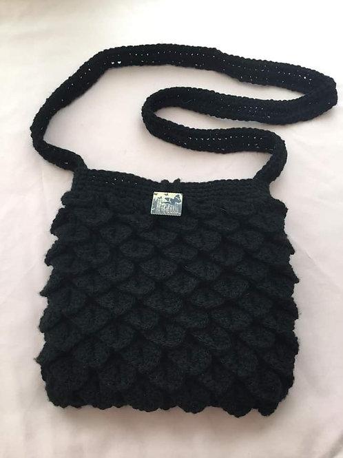 """Paris"" Dragon Scale Handbag - black"