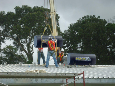 INSTALLATION SOLAR WATER HEATERS FOR WORKERS RESIDENCE