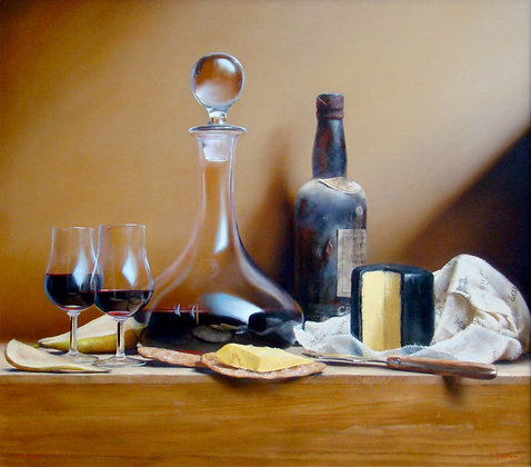 PAUL S. BROWN | Port with Cheddar and Pear