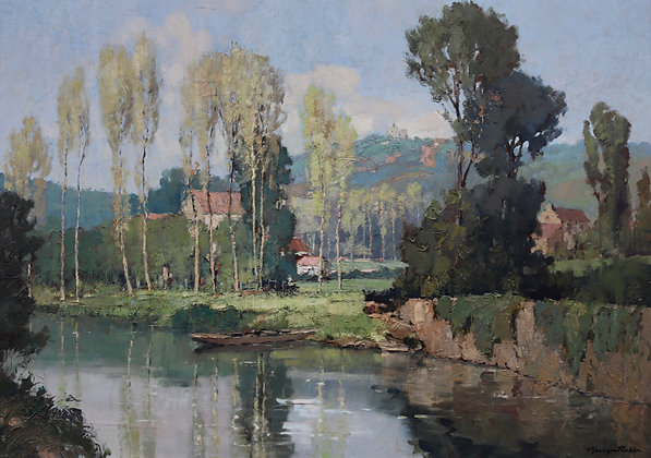 GEORGES CHARLES ROBIN | Tranquil Reflections