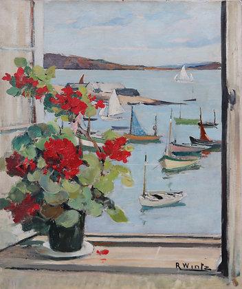 RAYMOND WINTZ | Les Géraniums sur la Fenêtre