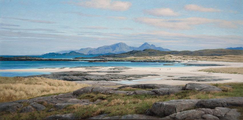 PETER SYMONDS | Muck, Eigg and Rum from Sanna Bay, Scotland