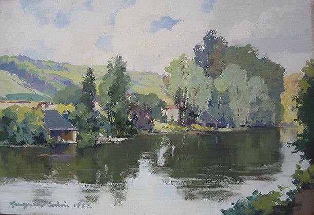 GEORGES CHARLES ROBIN | Les Bords de Loir à Montoire