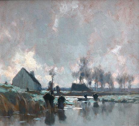 ALEXANDRE LOUIS JACOB | Temps Gris, Bords de Riviere