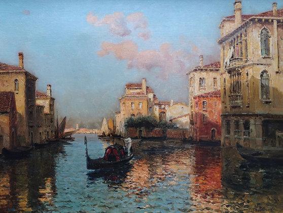 AUGUSTE BOUVARD | Vue d'un Canal à Venise