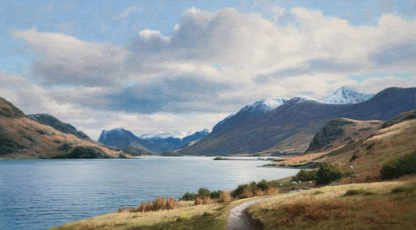 PETER SYMONDS | The Buttermere Fells from Crummock Water, Lake District