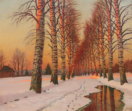 MICHAIL MARKIANOVITCH GERMASEV | The Sunlit Avenue