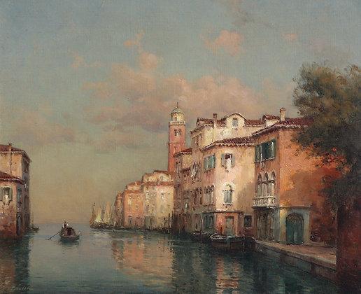 AUGUSTE BOUVARD | Canal à Venise