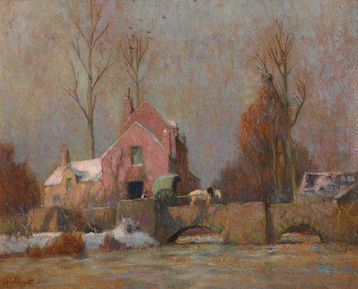 ALEXANDRE LOUIS JACOB | Winter in Asniers