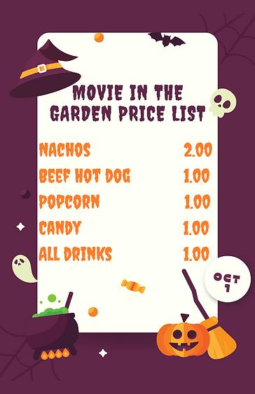 Movie in the Garden price list.png