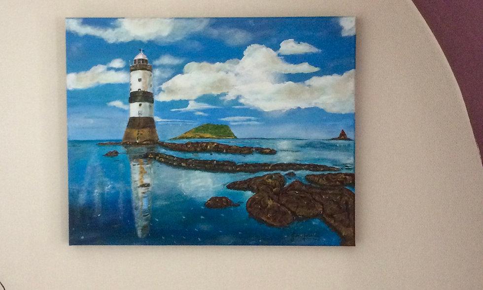 Penmon Lighthouse, Acrylic on Canvas