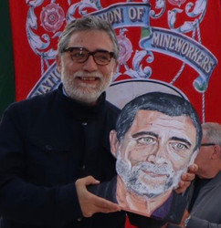Jaume Plensa with my portrait