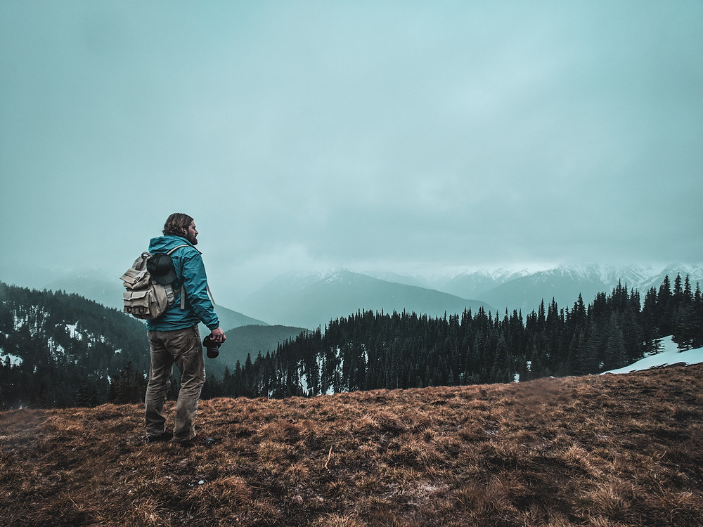 Hiking the Hurricane Hill Trail in March at Olympic National Park during our road trip to the PNW.
