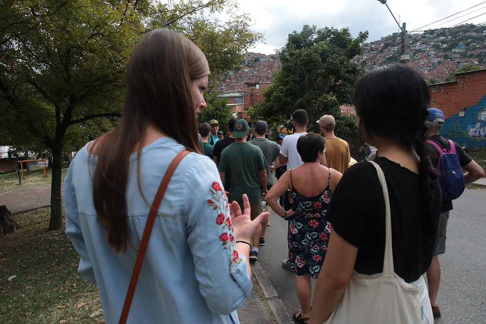 Getting to meet new people on free walking tours.