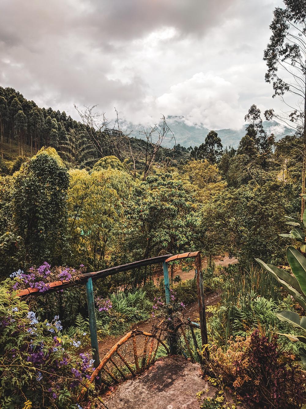 Mountain views in Jardin, Colombia.