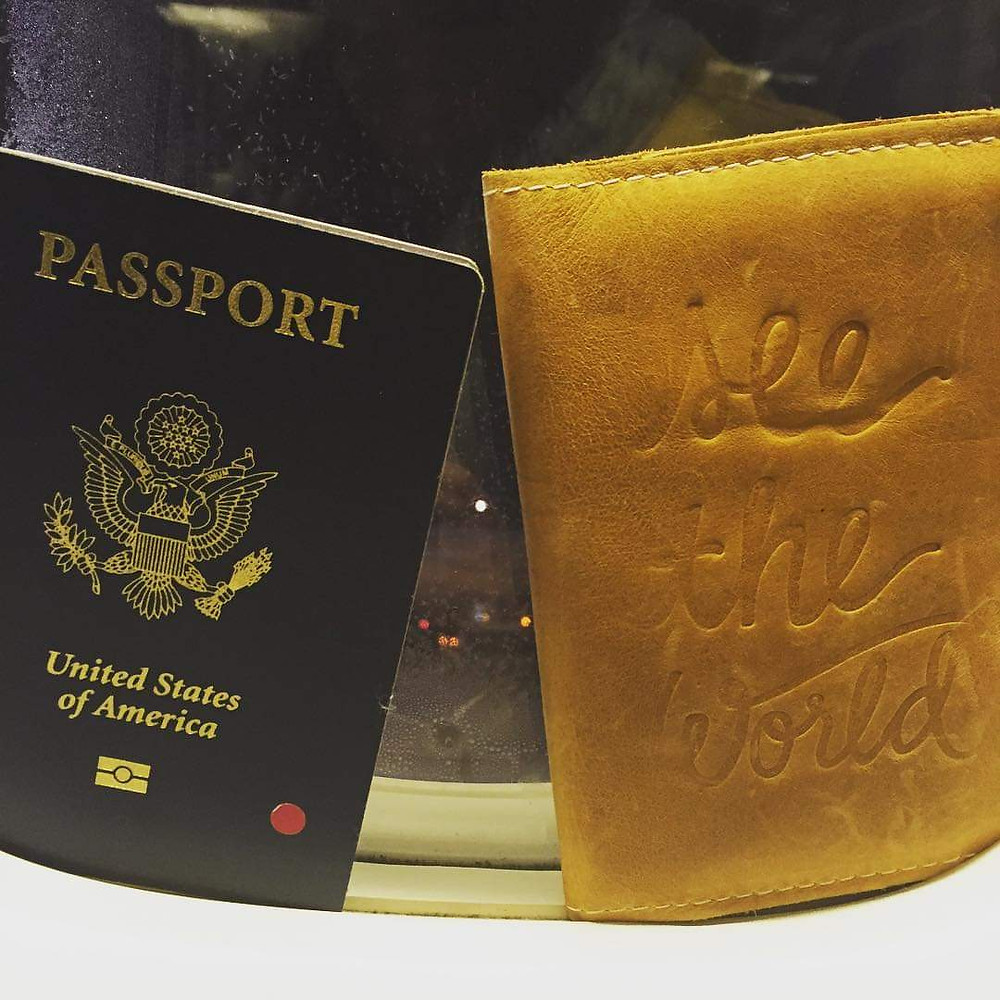 A picture of my passport and the first post I did when I started traveling.