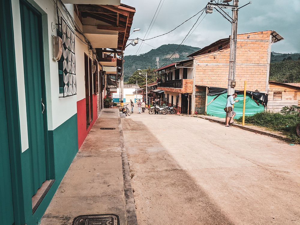 Walking the streets of Jardin, Colombia.