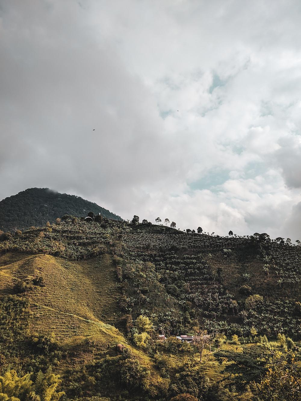 Mountain views near Jardin, Colombia.