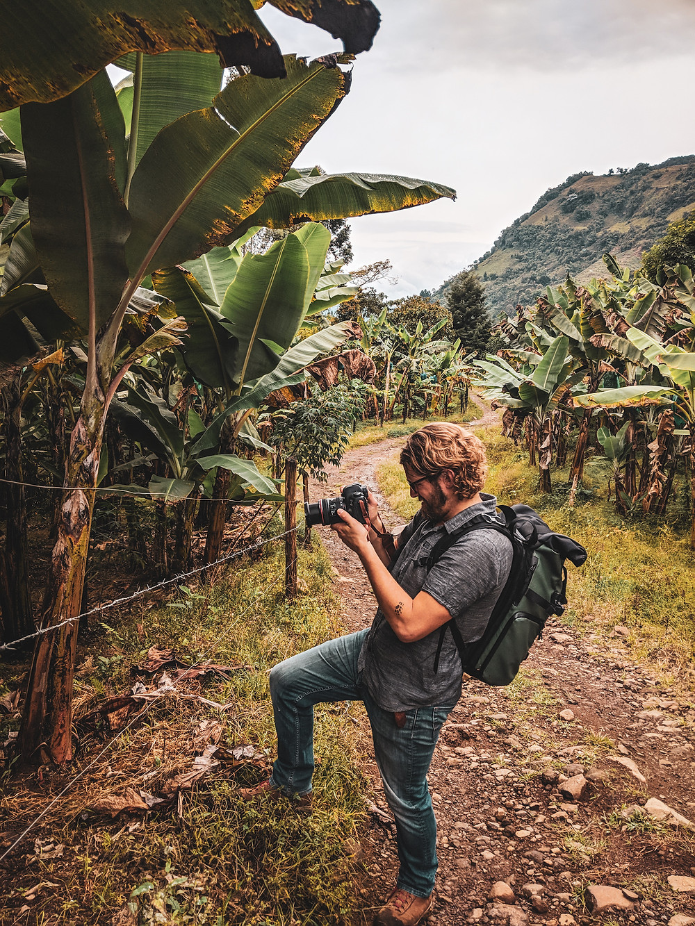 Taking photos while on a hike in Jardin, Colombia.