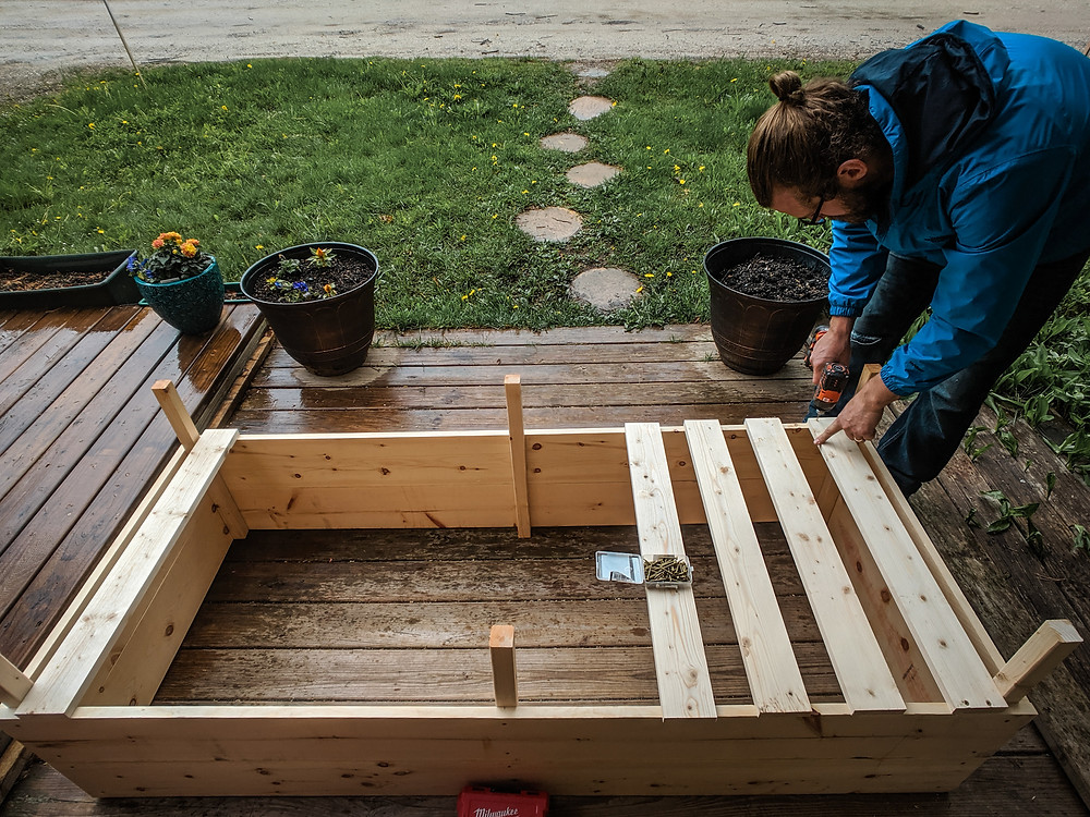 Making proper drainage for DIY raised garden beds.