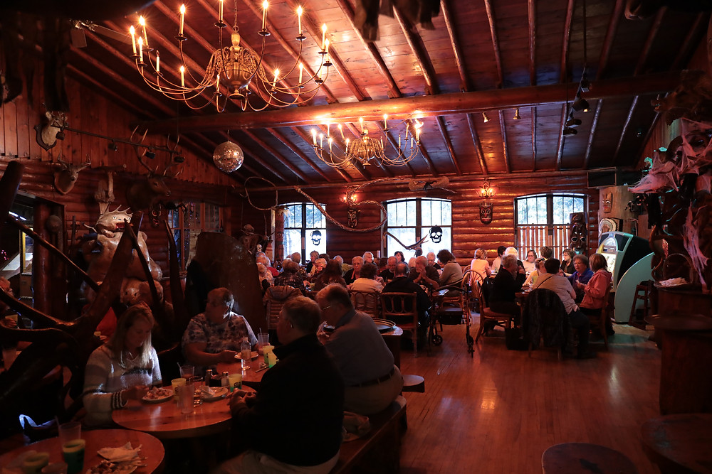 Inside the iconic Legs Inn, famous Polish Restaurant along M-119 and the Tunnel of Trees in Cross Village in Northern Michigan.