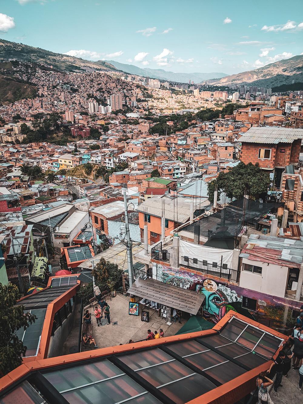Escalators in Comuna 13.