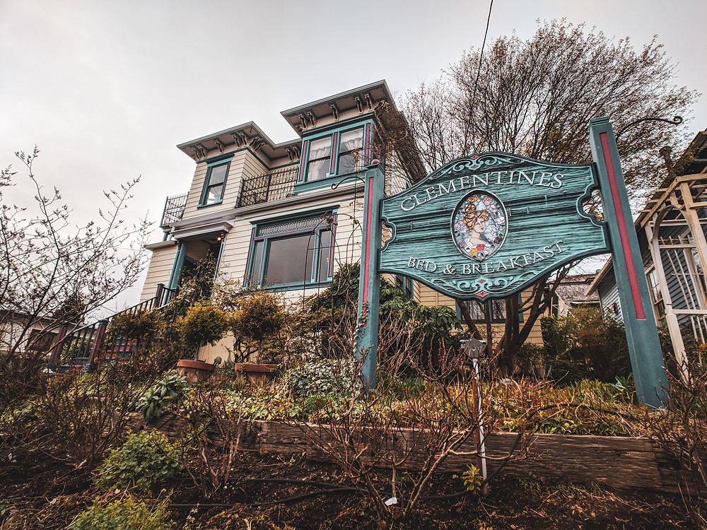 Clementines Bed and Breakfast in Astoria, Oregon in the PNW.