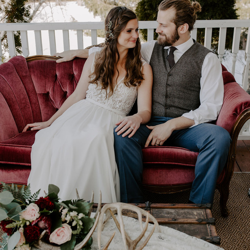 Steph and Scott from Each Day Slow do a stylized wedding shoot in Northern Michigan.