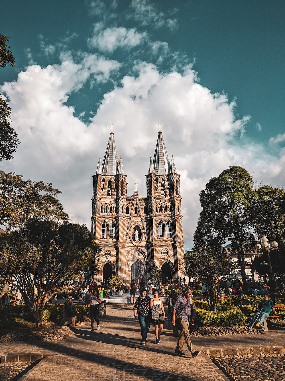 Basilica of the Immaculate Conception in Jardin, Colombia.